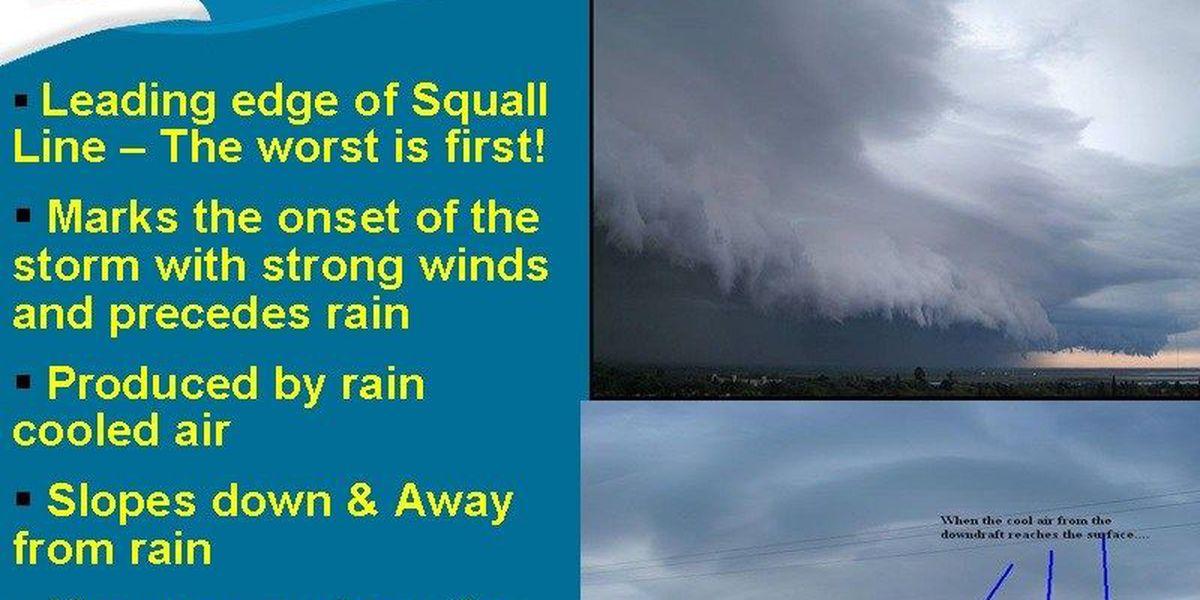 Wesley's Blog: Shelf cloud makes a scary sky