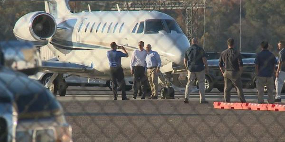 Vice President-elect Mike Pence arrives in Meridian