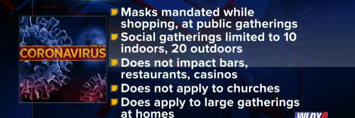 Mask requirements now in effect for 13 counties, including Harrison and Jackson