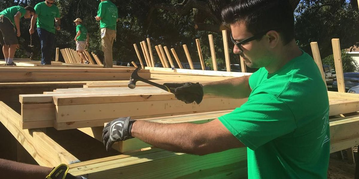Work begins on the house that Hang Out with Habitat will build