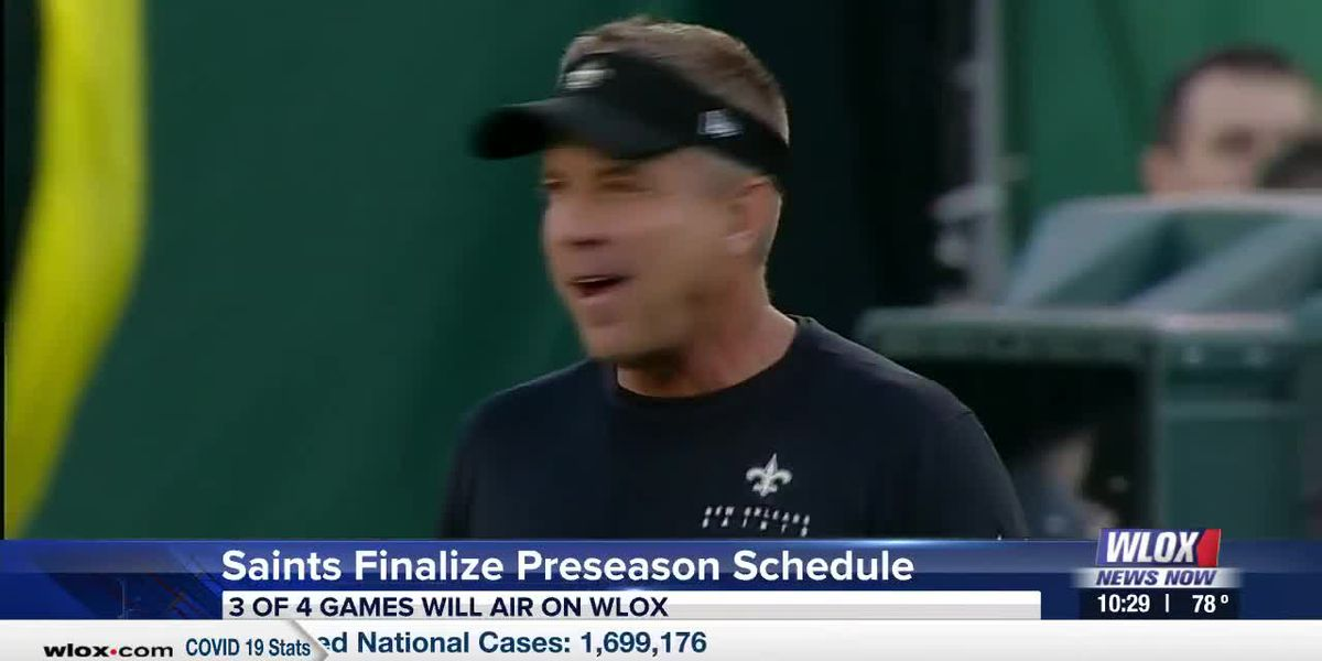 Saints Finalize Preseason Schedule