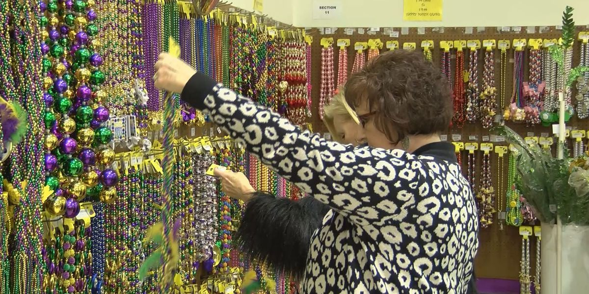 Mardi Gras sales pick up at area stores