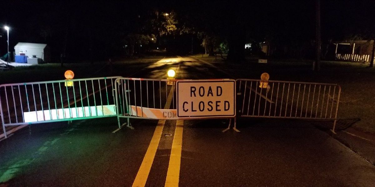 River Road in Pascagoula, Moss Point back open road collapse near bridge