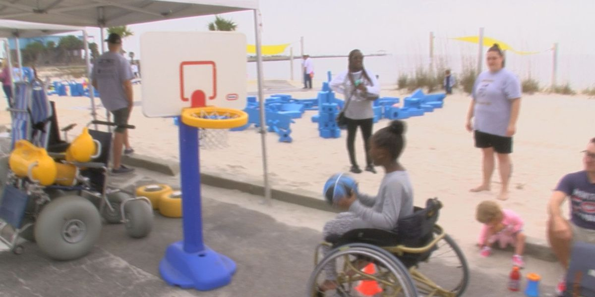 Beach day allows people with disabilities a chance to have fun in the sun