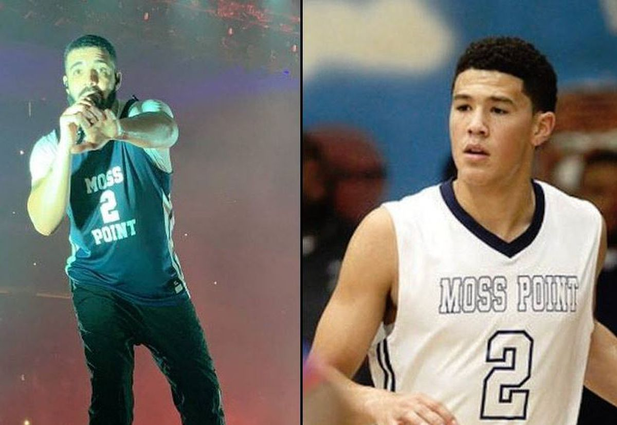 b42890bf4 Rapper Drake represents Moss Point with Booker jersey