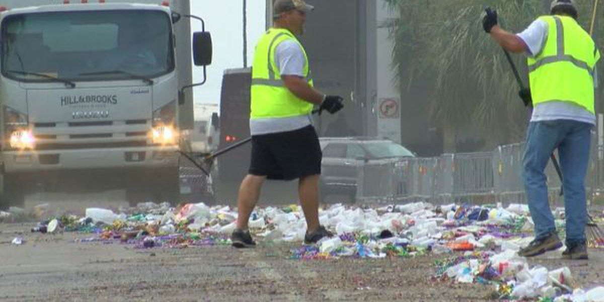 Mardi Gras cleanup takes over downtown Biloxi