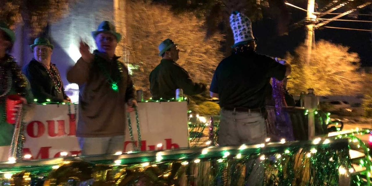 Luck of the Irish rolls in Pascagoula night parade