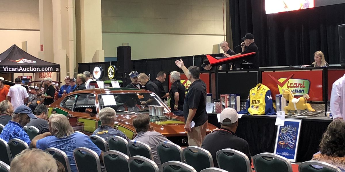 Classic cars head the auction block during three-day event