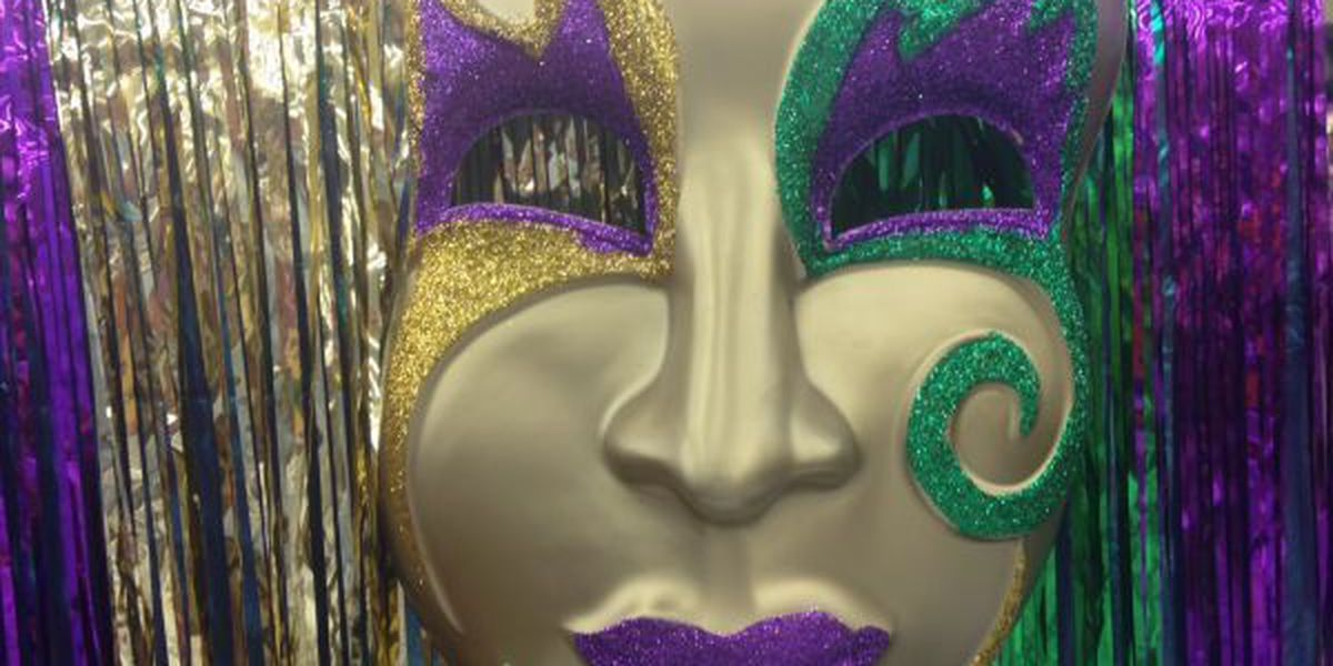 Mardi Gras beads will be flying all weekend