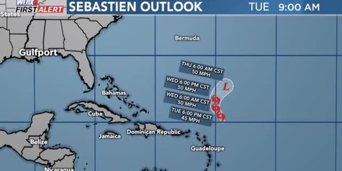 Tropical Storm Sebastien forms, no threat to land