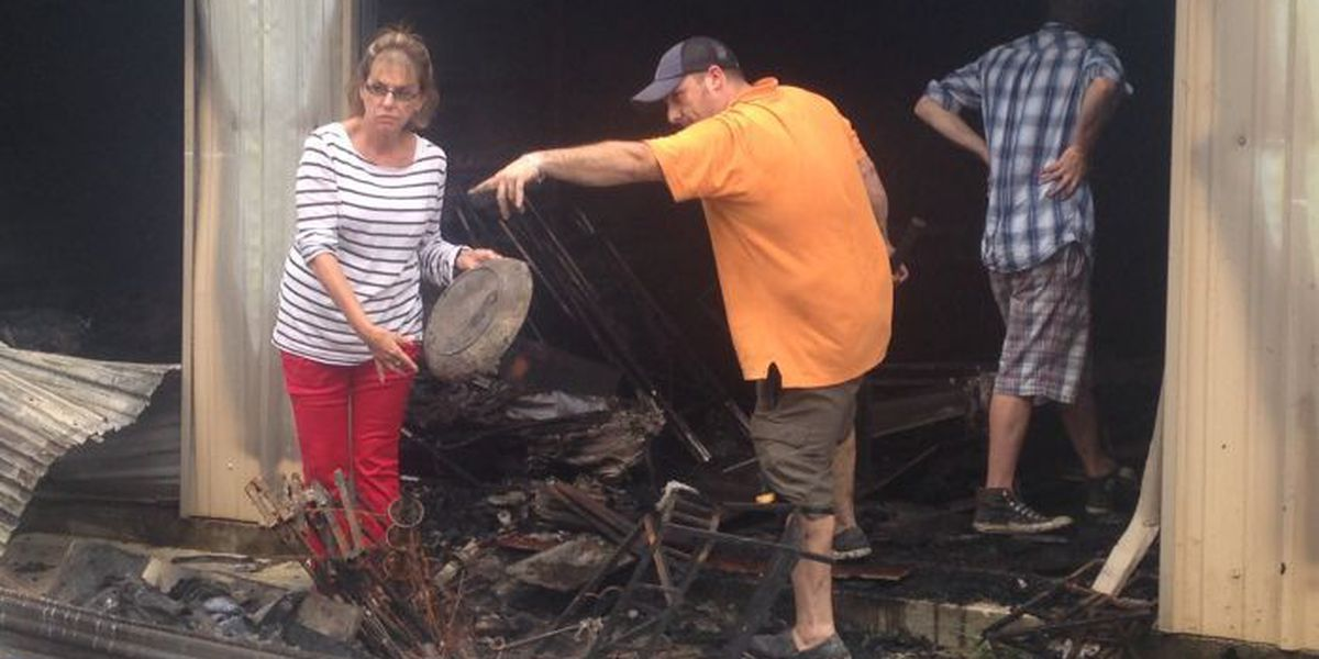 Property owners survey damage caused by mini storage fire