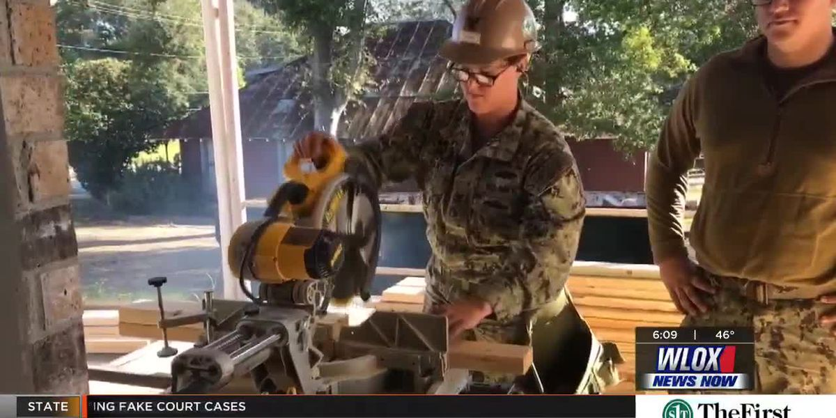 Wiggins Police thank Seabees for station construction project