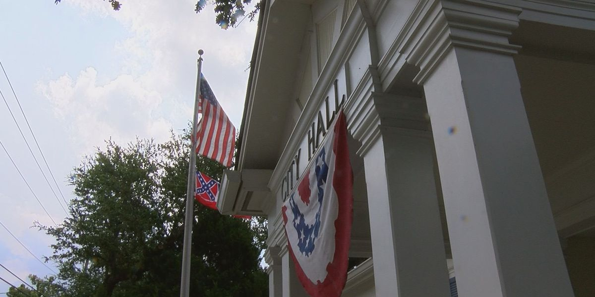 Mayor Dobson decides to fly state flag over city hall
