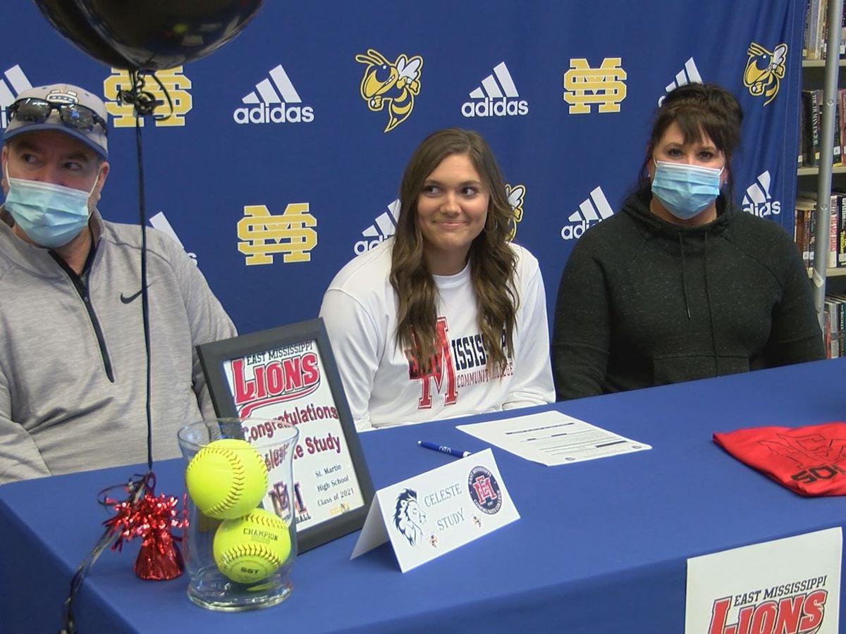 Celeste Study signs with EMCC softball
