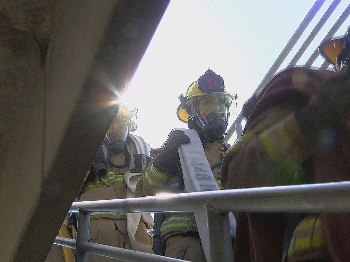Braving scorching temps: Firefighters train under the hot summer sun