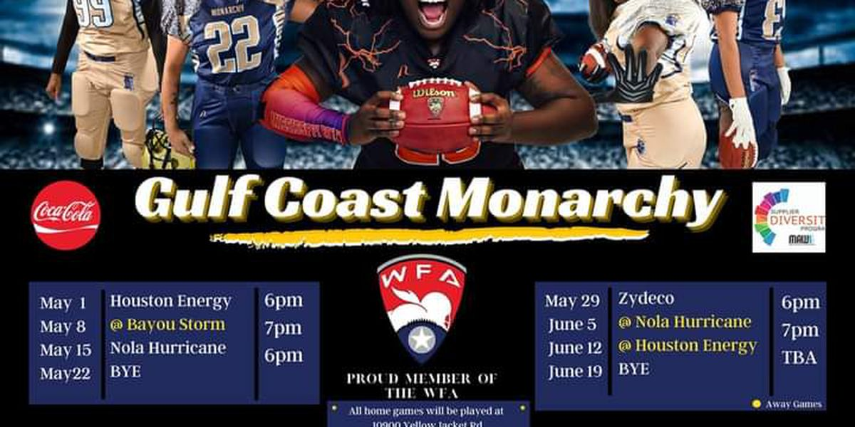 Gulf Coast Monarchy football team schedule