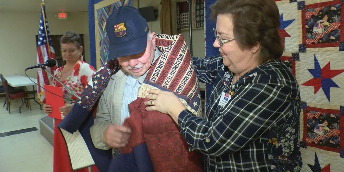 First Quilts of Valor Foundation ceremony on Coast honors five veterans