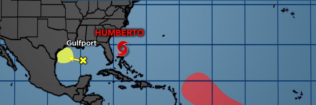 Humberto pulls away from Bahamas, watching other disturbances