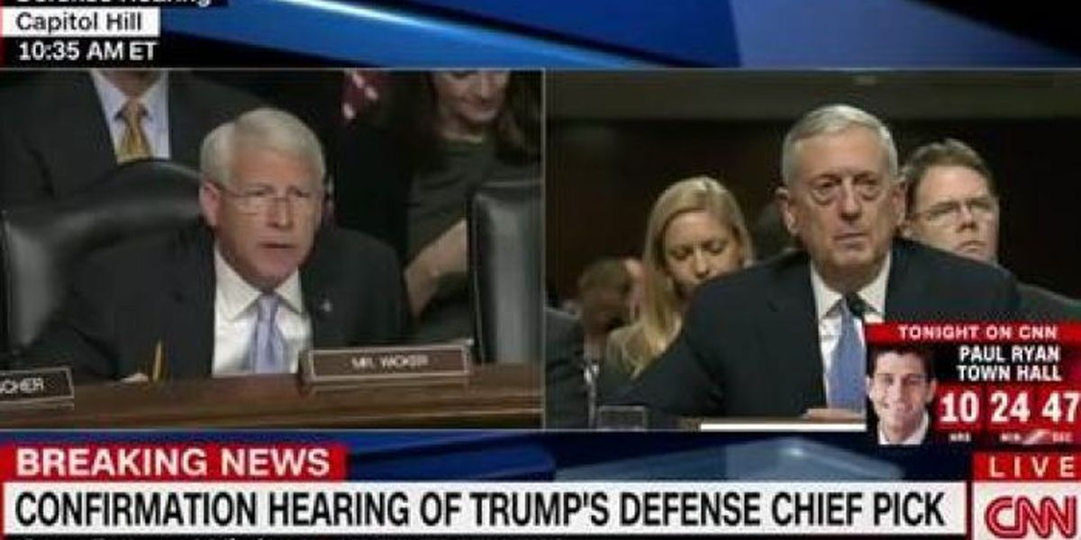 Sen. Wicker questions Gen. Mattis about Israel's security