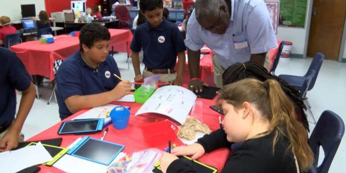 Jackson County school celebrates Chevron donation