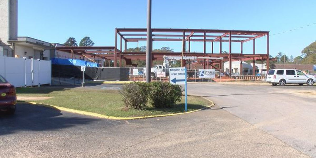 Progress of George Co. Regional Hospital renovations now visible