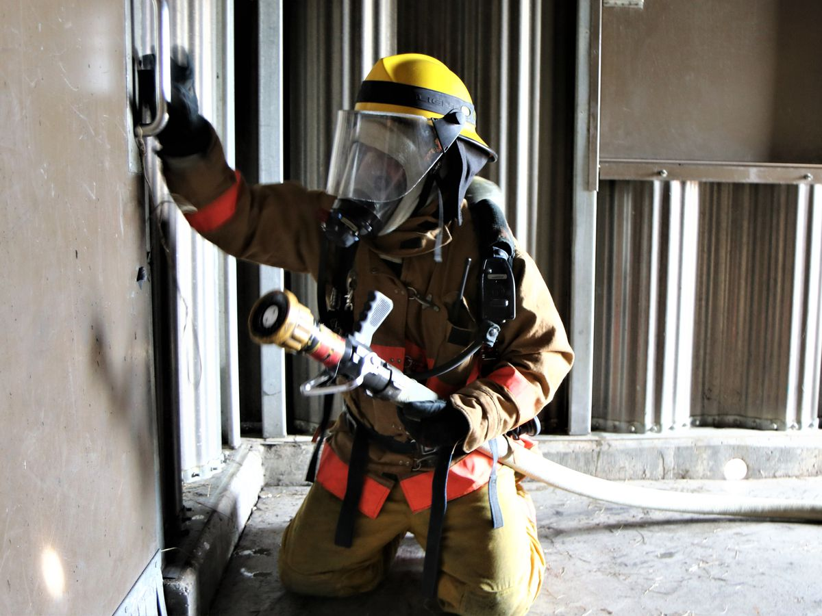 Harrison County Fire Service holds live fire training