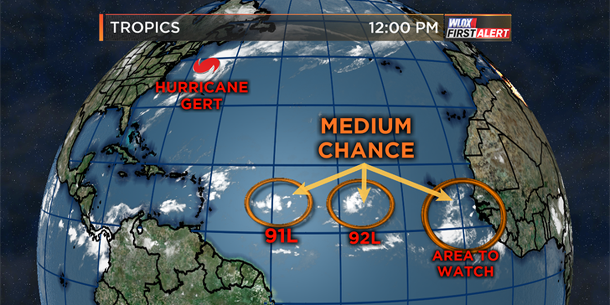 Tracking tropical waves that could develop this weekend
