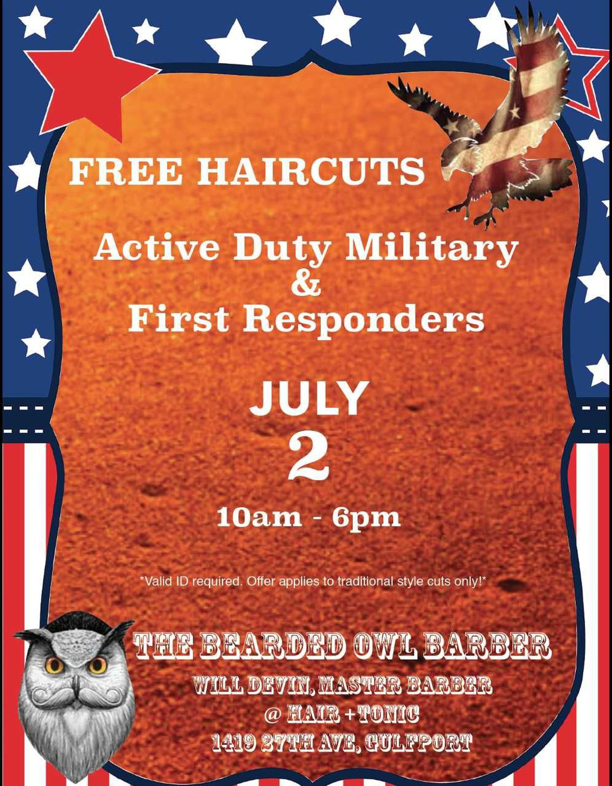 Gulfport Barber Offers Free Haircuts To Military And First Responders