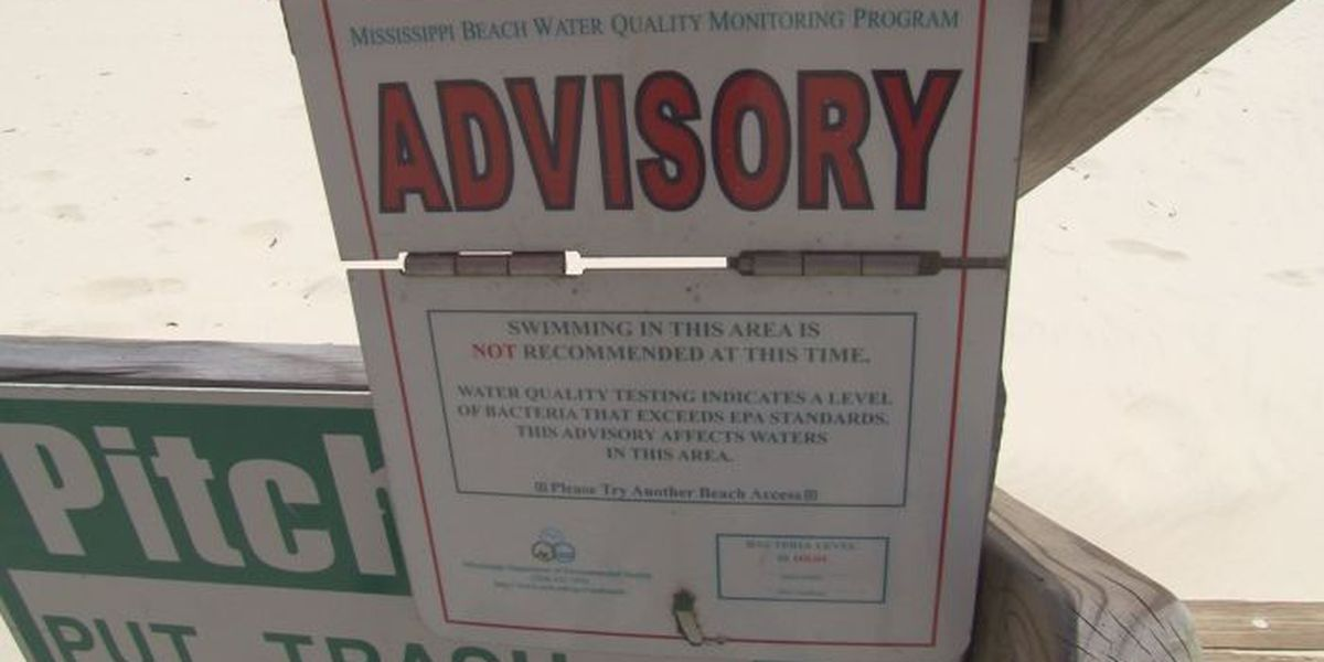 Water contact advisory issued for part of the Mississippi Sound