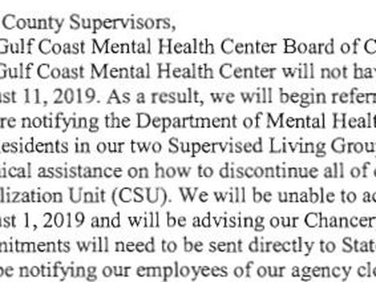 Gulf Coast Mental Health Center to close its doors at clinics in four South Mississippi counties