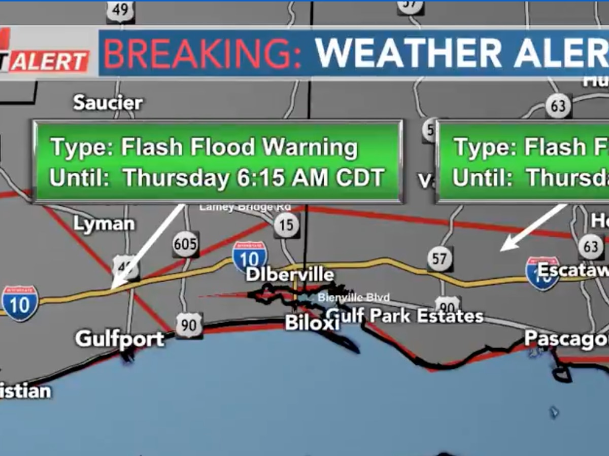 Flash flood watch in effect across South Mississippi