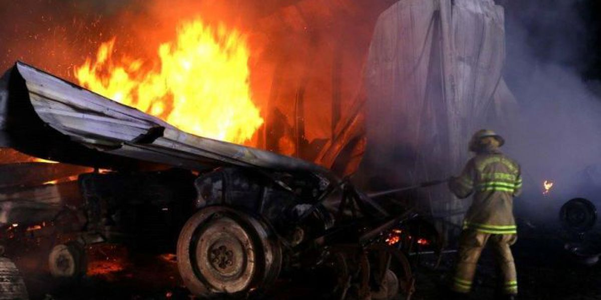 Several vehicles destroyed in Harrison Co. garage fire