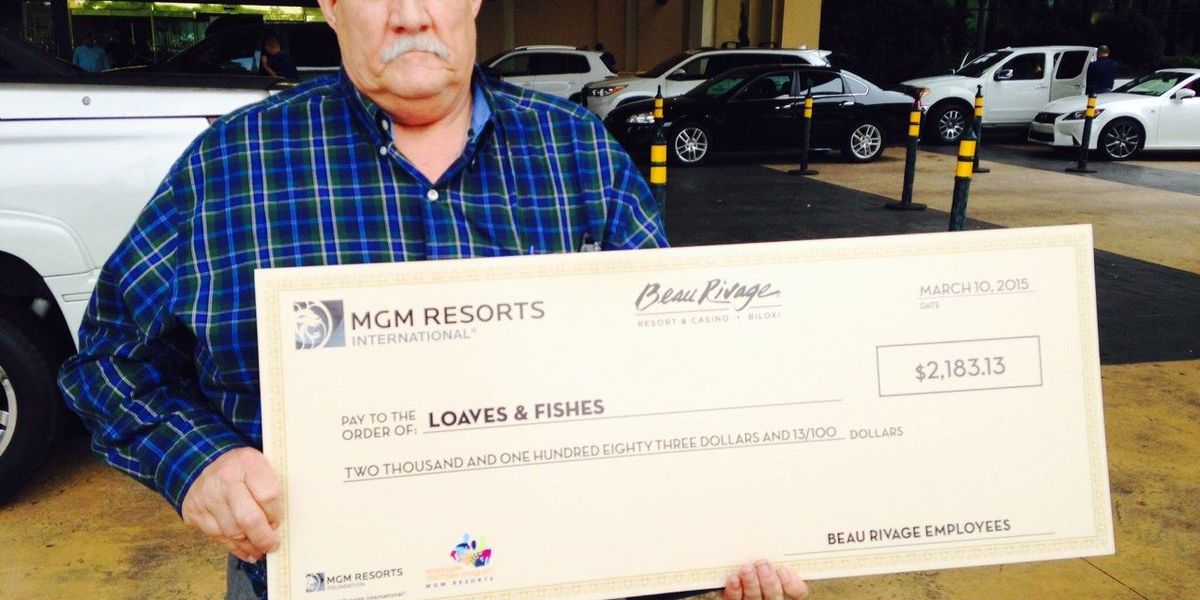 Beau Rivage awards more than $17,000 to coast food pantries