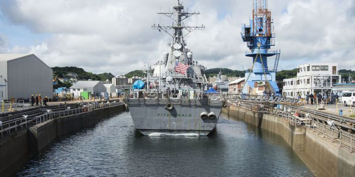 Navy: Ingalls will repair damaged USS Fitzgerald