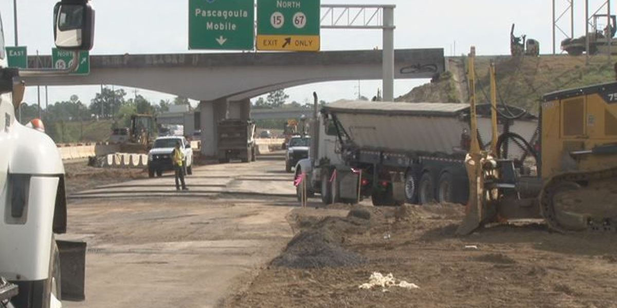 Drivers to see detour as MDOT reaches milestone on I-10/I-110 project