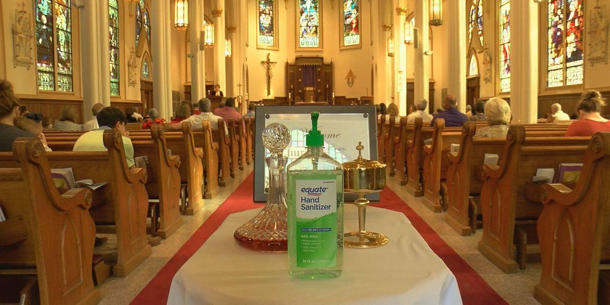 Biloxi Catholic church holds Sunday Mass with coronavirus prevention