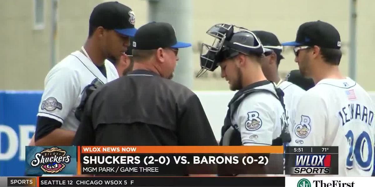 Barons Shutout Shuckers In Completion of Suspended Game