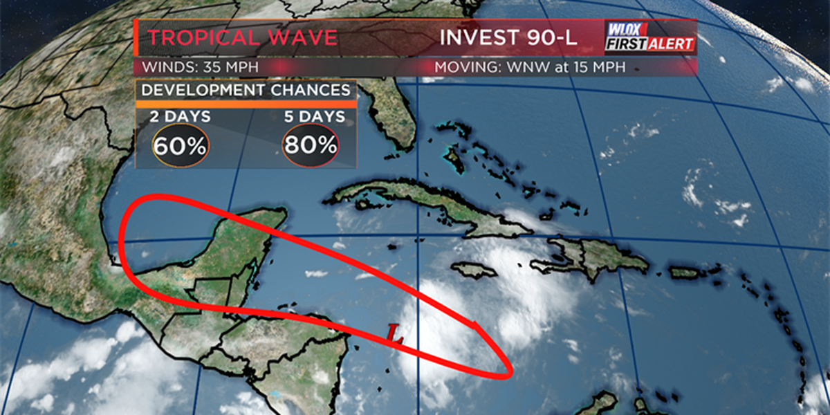 Tropical development likely in Caribbean