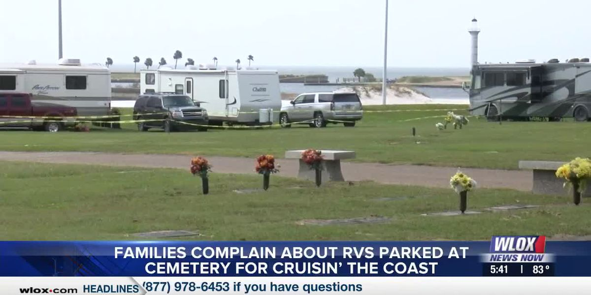 Families complain about RVs parked at cemetery for Cruisin' the Coast