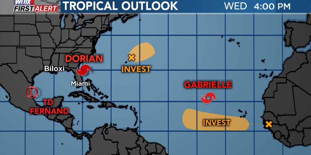 3 storms at once: Dorian, Fernand, and Gabrielle
