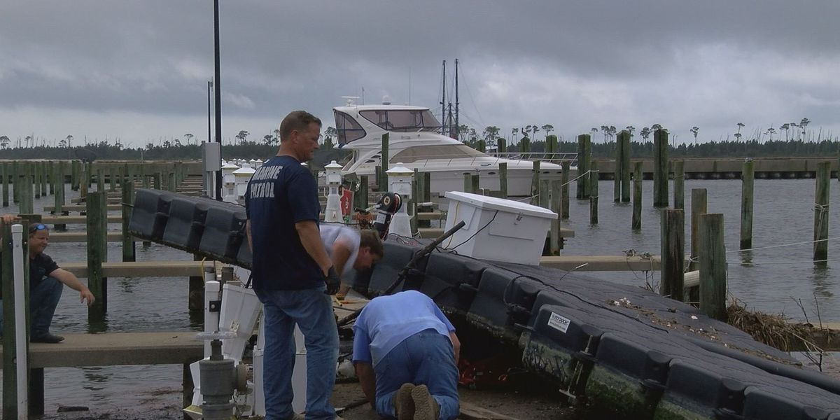 City of Biloxi working to assess damage to harbors