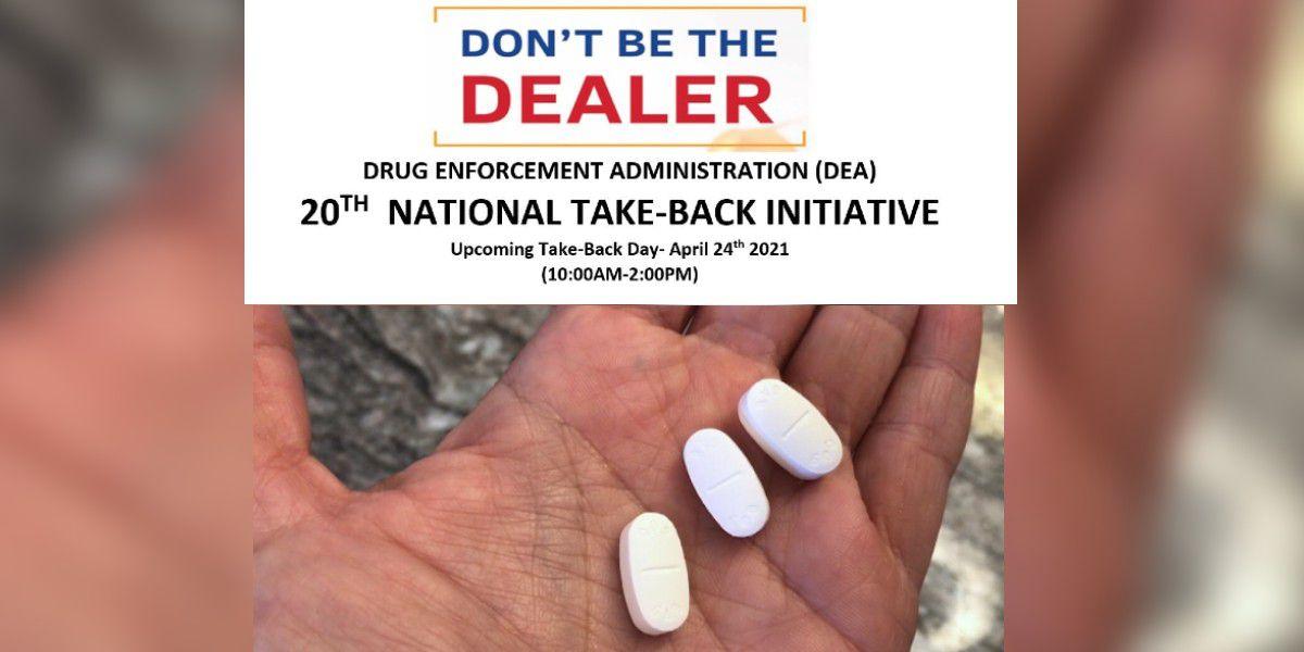 National Prescription Drug Take Back Day is Saturday, April 24