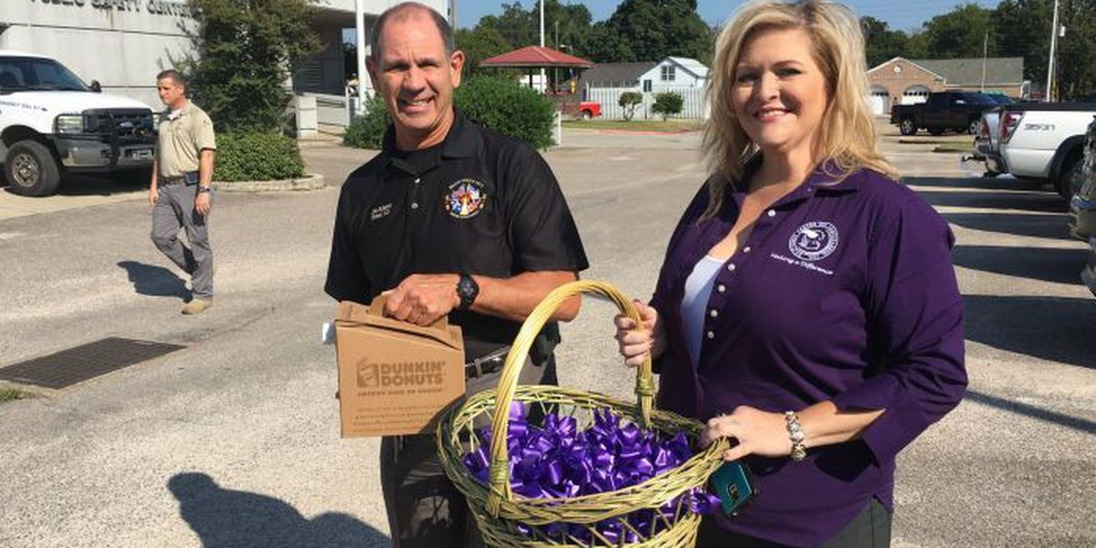 Purple ribbons bring domestic violence awareness to South Mississippi