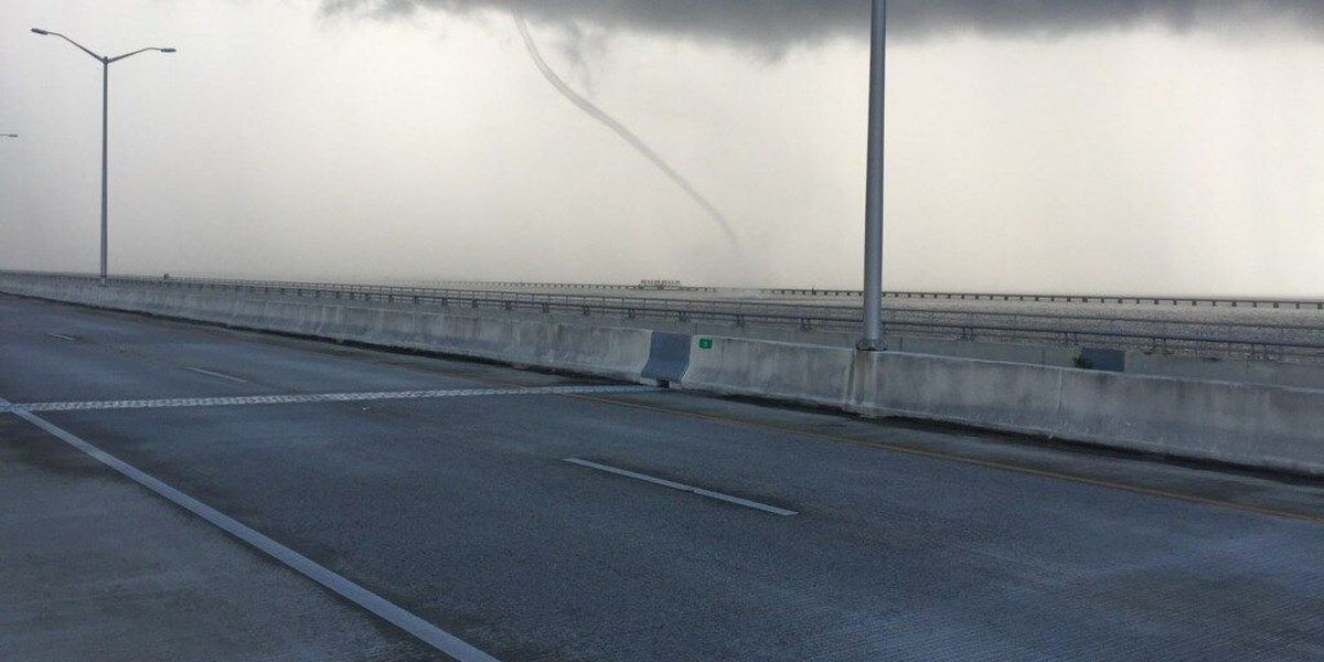 Waterspout spotted near Bay St. Louis