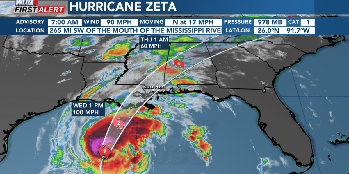 South Mississippi should hunker down by 3 PM Wednesday. Storm winds may arrive before 7 PM.