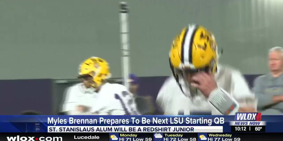 Myles Brennan prepares to be next LSU starting QB