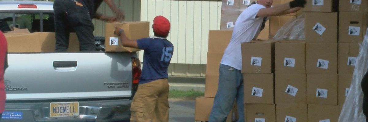 Federal program distributes meat, veggies, and more to hundreds in George County