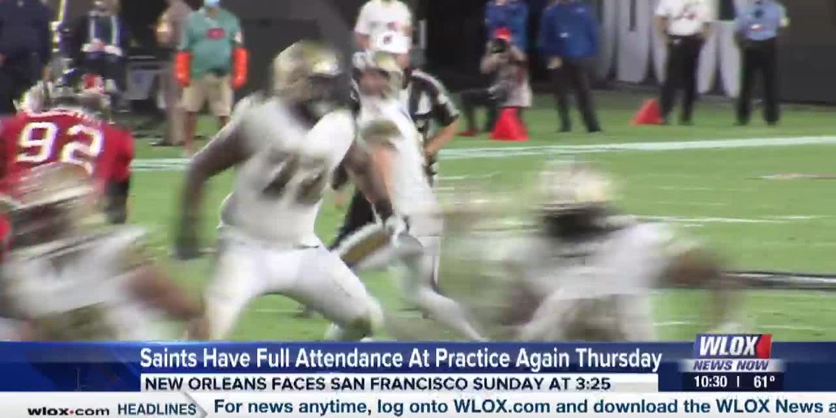 Saints have full attendance at practice again Thursday