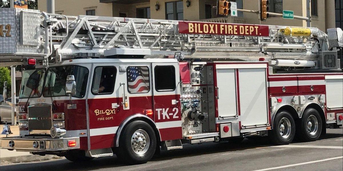 Biloxi celebrates firemen with a parade