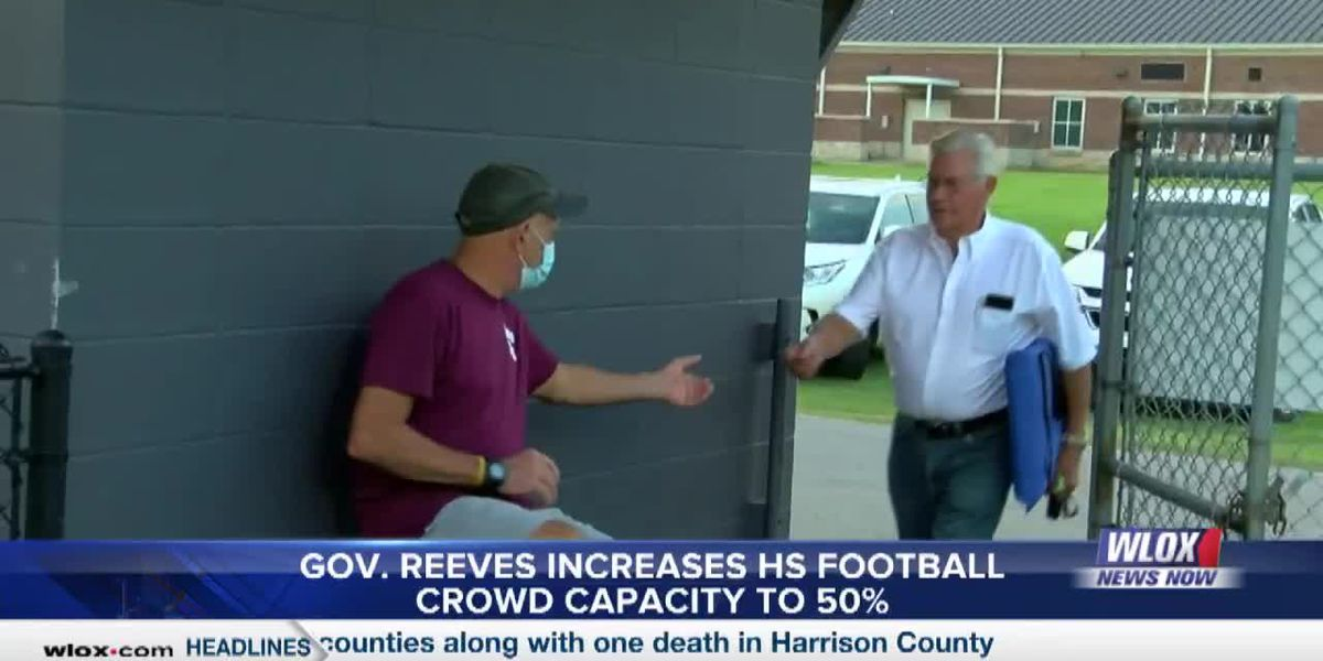 Gov. Tate Reeves increases crowd capacity at high school football games